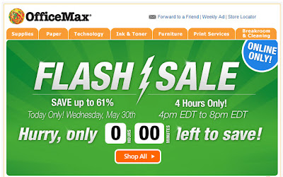 May 30, 2012 OfficeMax email