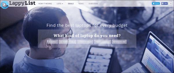 LappyList يساعدك في اختيار اللابتوب المناسب لك تحديداً