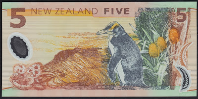 Nuova Zelanda 5 dollars 1999 P# 185a