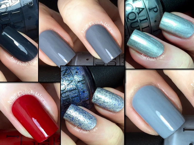 OPI - 50 Shades of Grey Collection Swatch & Review | Nail Polish ...