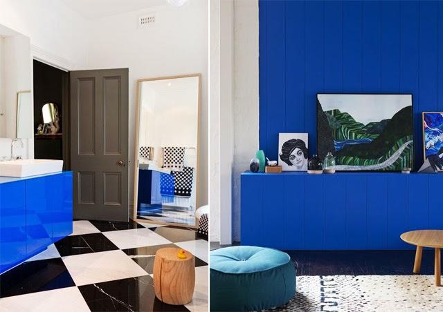 Papier Peint Bleu Majorelle - Papier Peint bleu Majorelle Retour au dernier produit