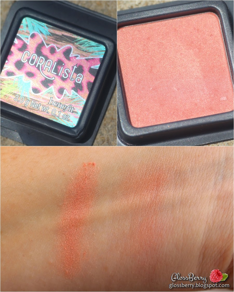 benefit coralista blush swatch heavy light סומק קורלי ורוד קורליסטה בנפיט