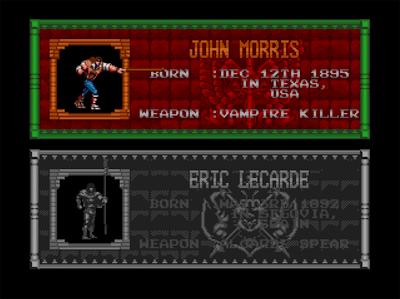 John Morris, le héros au fouet de Castlevania Bloodlines sur Megadrive