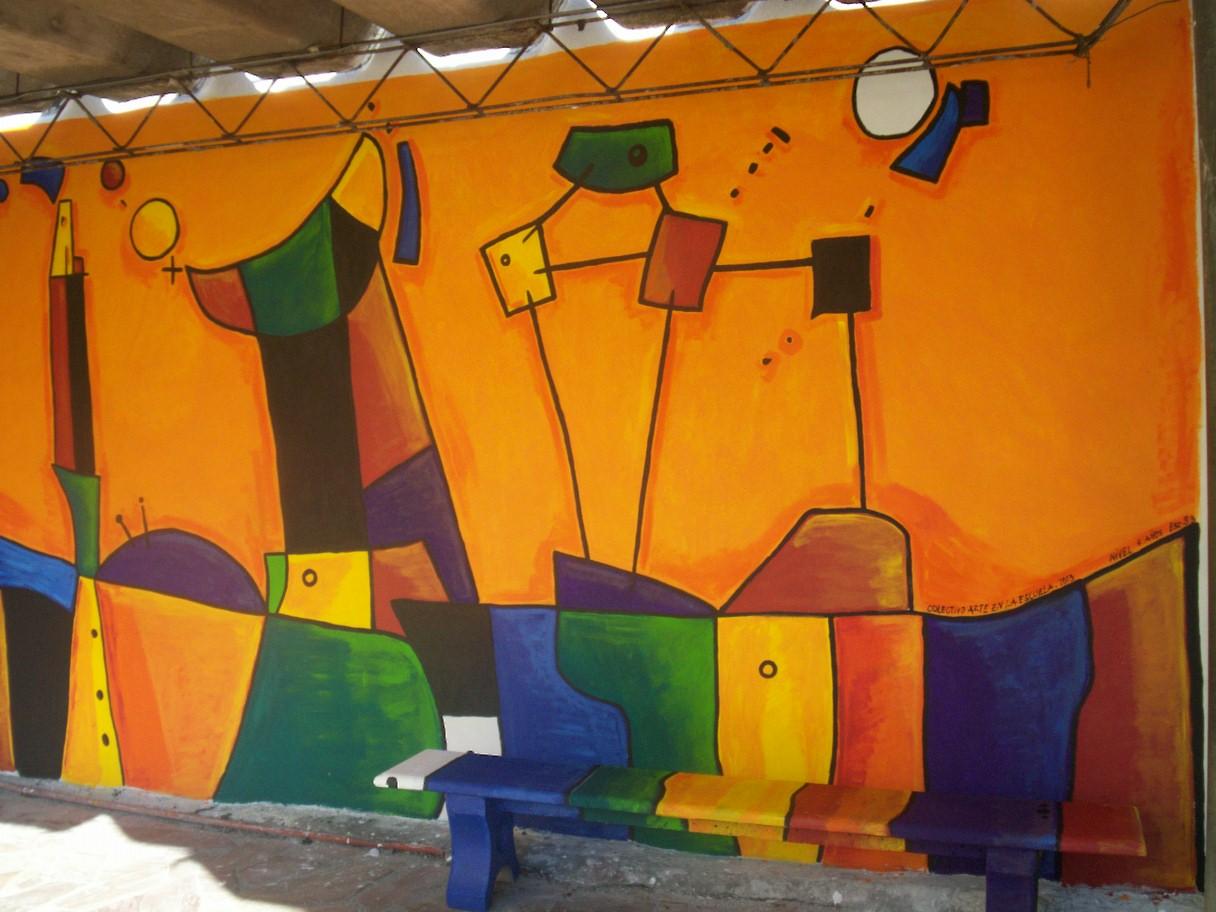 Arte en la escuela intervenciones artisticas murales en for Arte colectivo mural
