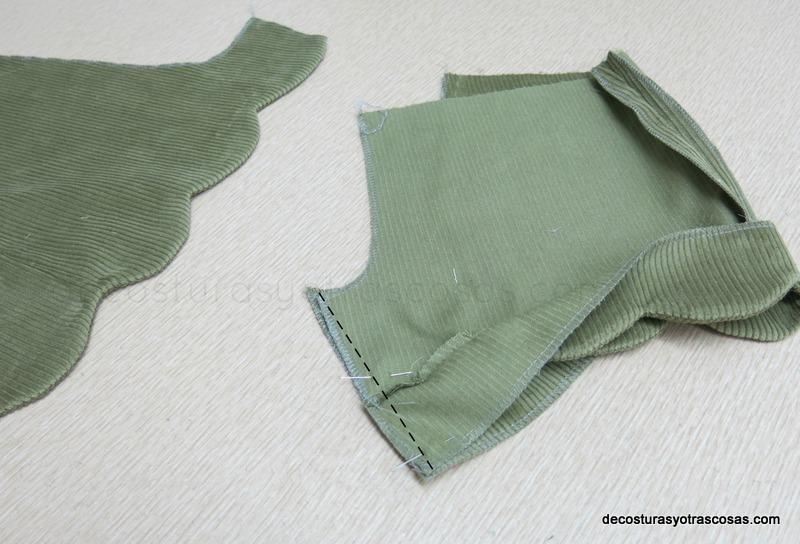 coser entrepierna pantalón corto