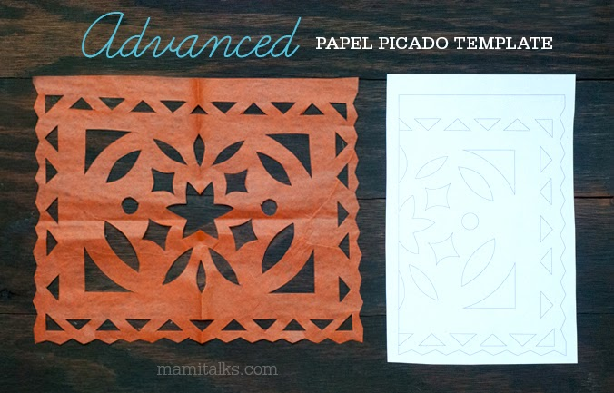 mami talks papel picado templates. Black Bedroom Furniture Sets. Home Design Ideas