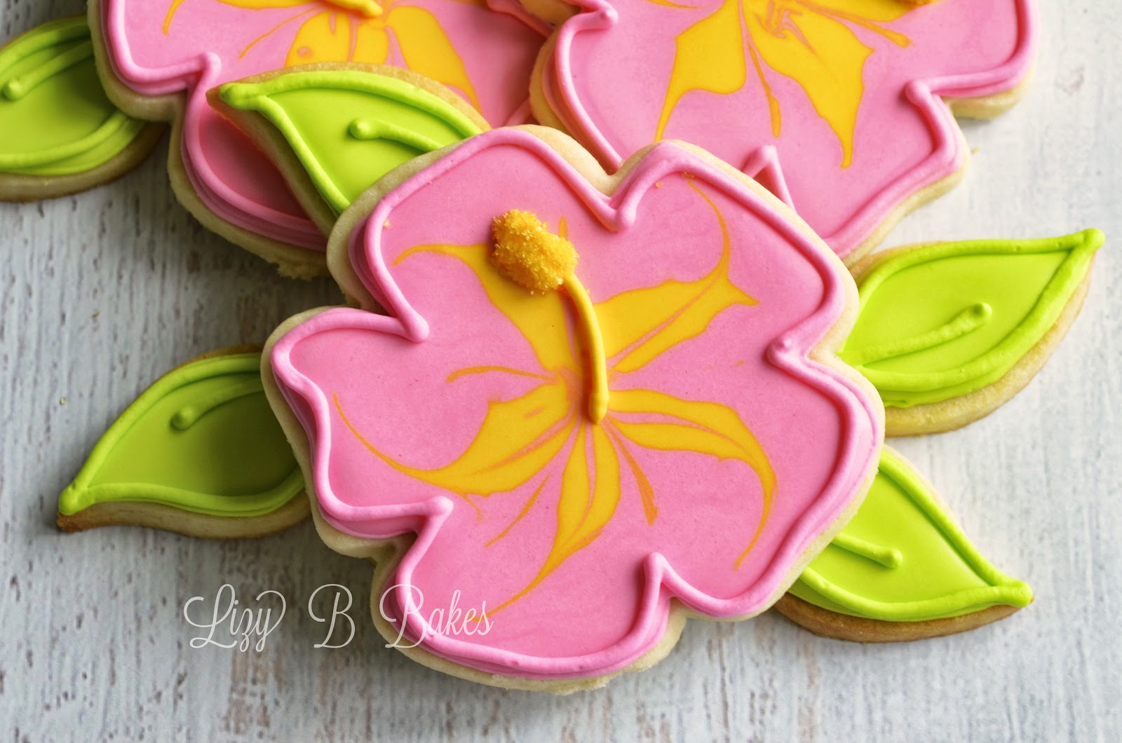 Lizy B Tropical Flower Cookies