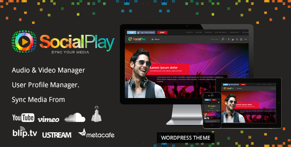 SocialPlay - Media Sharing WordPress Theme free download