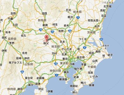 埼玉県皆野町の地図