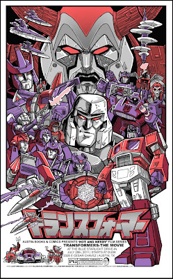 Transformers: The Animated Movie Standard Edition Screen Print by Tim Doyle