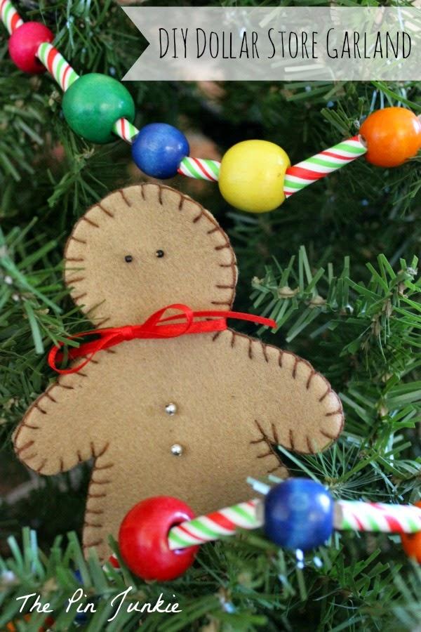 dollar store craft Christmas garland
