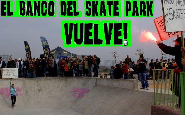 El banco del skatepark