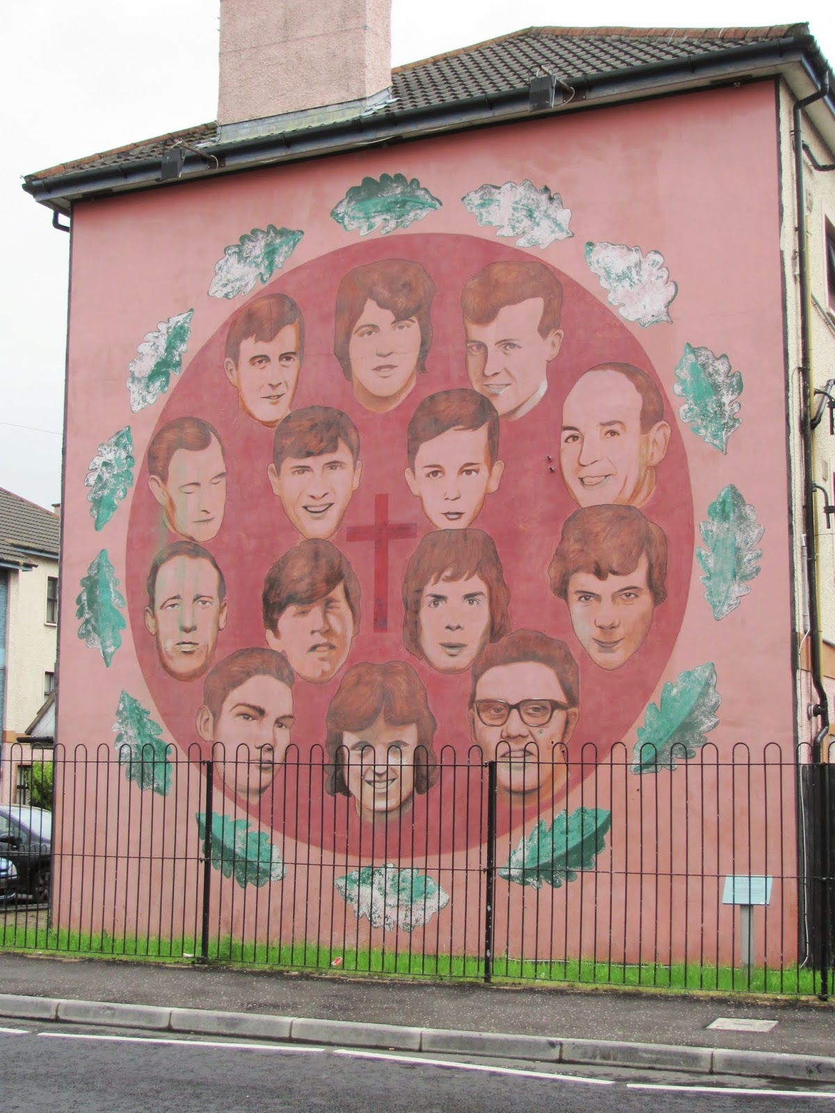 Bloody Sunday Commemoration- Faces of those killed on  Bloody Sunday in 1972