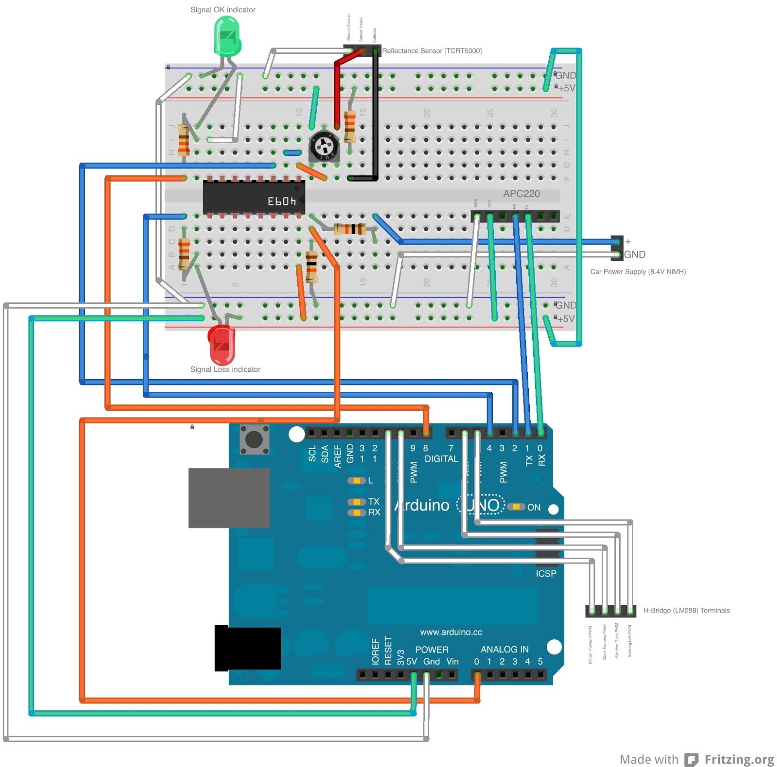 Arduino + Android + APC220 RC Car | Yogibotics
