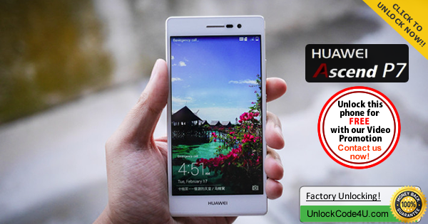 Factory Unlock Code for Huawei Ascend P7