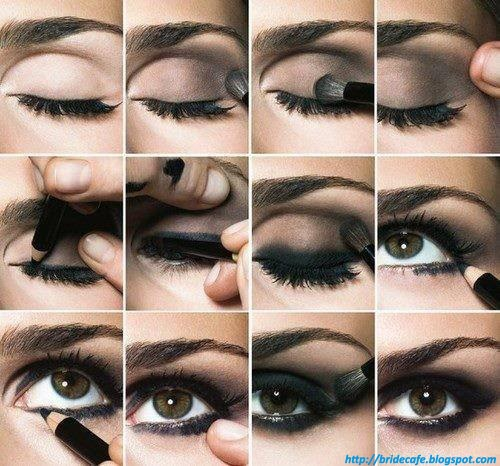 Step by step Smokey Eyes Makeup
