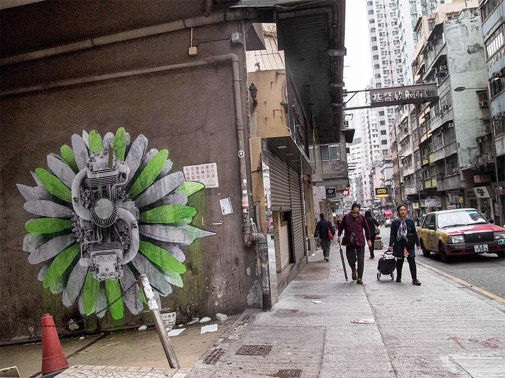 Ludo is currently in Southern Asia where he already left his mark with a new series of pieces on the streets of Hong-Kong.