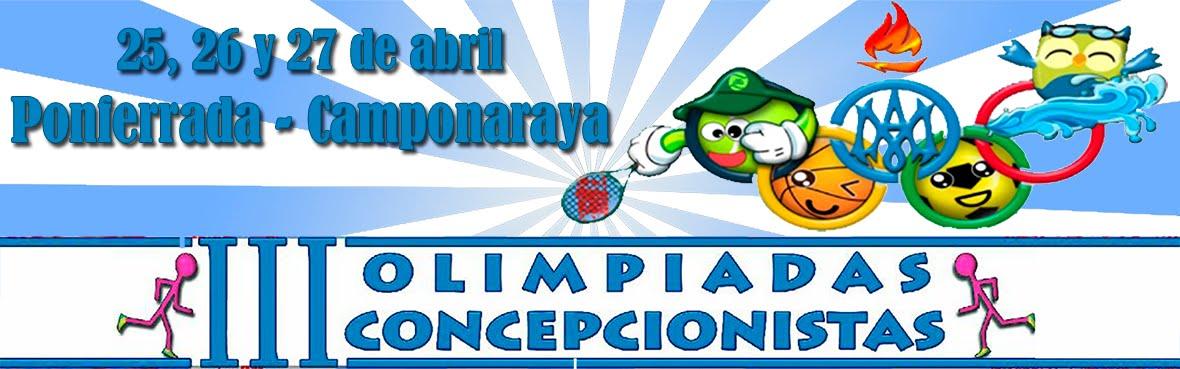 Olimpiadas Concepcionistas Ponferrada - Camponaraya 2017