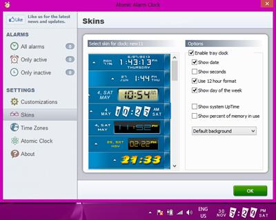 برنامج تغيير شكل ساعة الويندوز لاشكال رائعة 6.264 Atomic Alarm Clock coobra.net