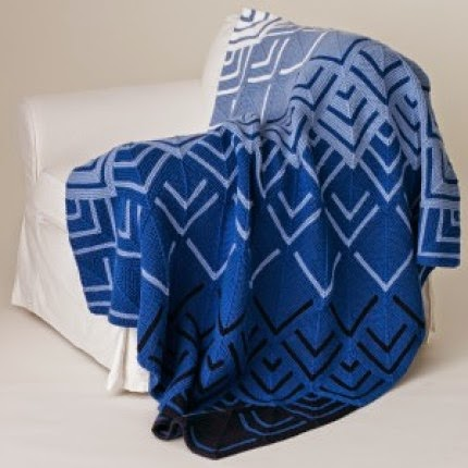 Cascading Colors Mitered Blanket - Free Pattern