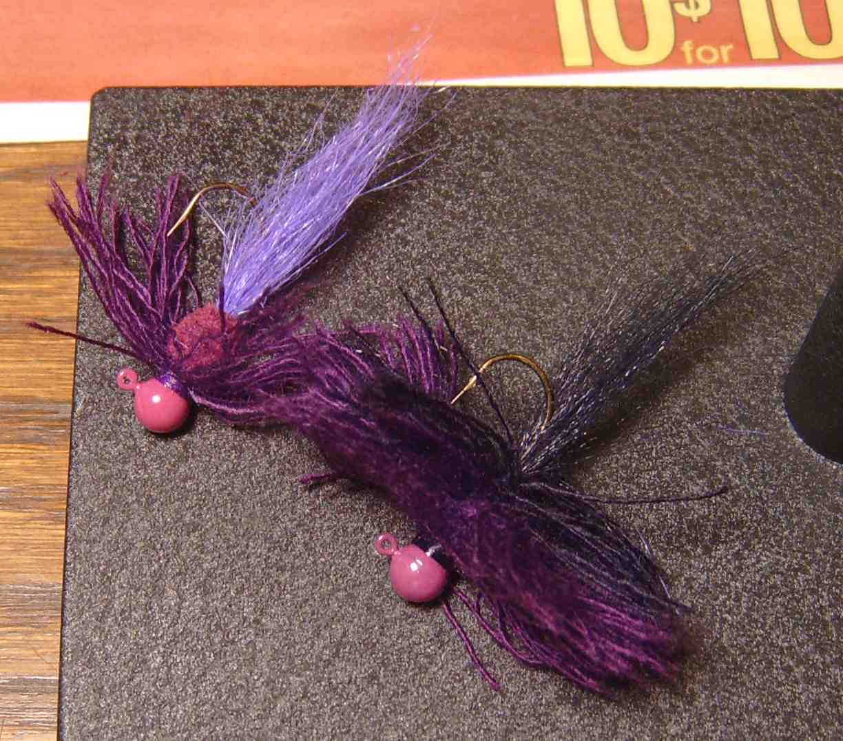 Pups jig works january 2012 tied a couple of purple jigs for largemouth bass i cant go fishing for them without purple lures in my tackle box nvjuhfo Choice Image