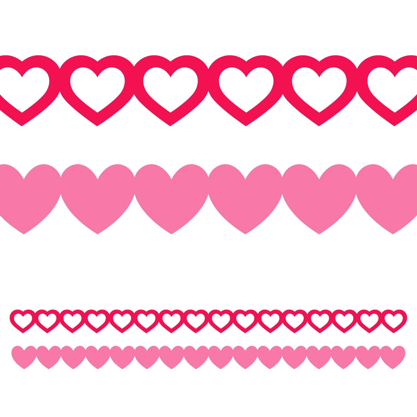 Valentine Heart Borders