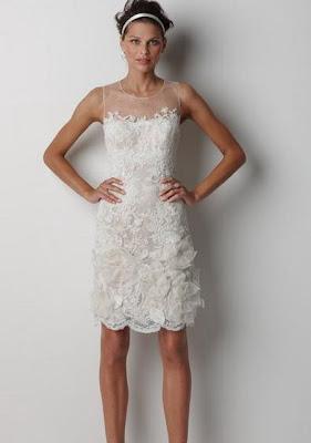 Short Lace Wedding Dress 2013
