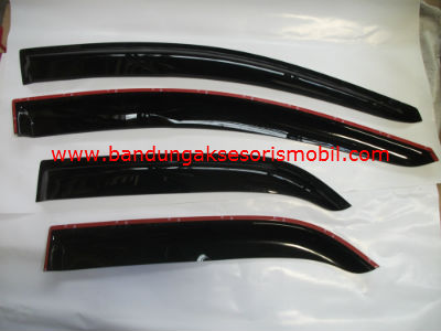 Talang Air All New Picanto Mugen Hitam 3M Depan Belakang