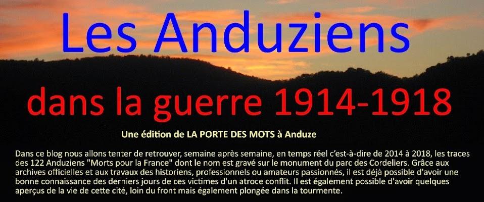 Les Anduziens dans la guerre de 1914-1918