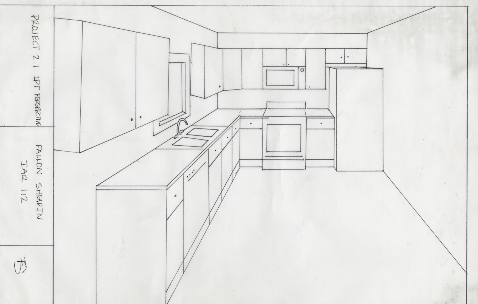 kitchen 1 point perspective. project 21 in the kitchen with karyn perspective one pt perspective 1 point n