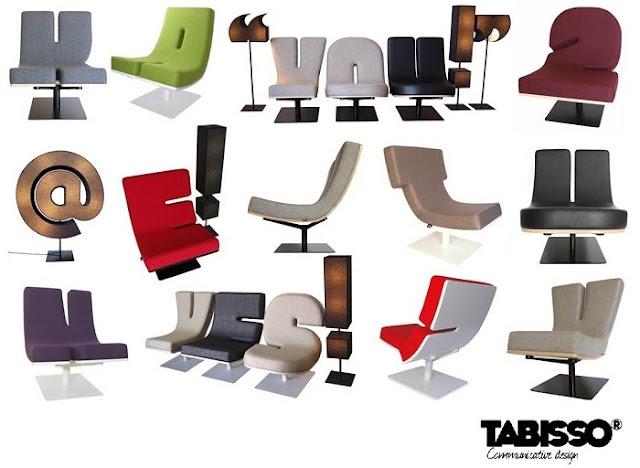 TABISSO: móveis tipográficos de luxo