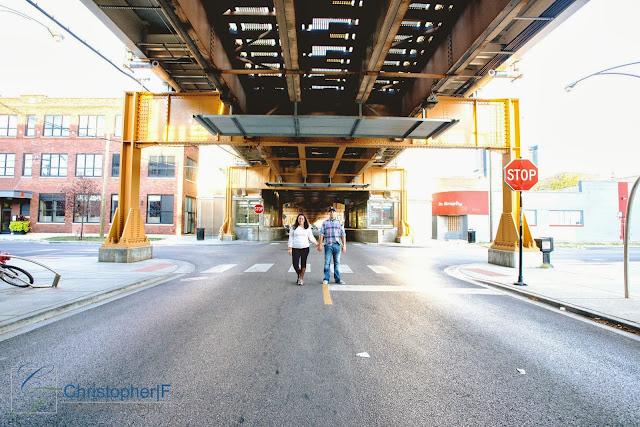 CTA Chicago Engagement Photo