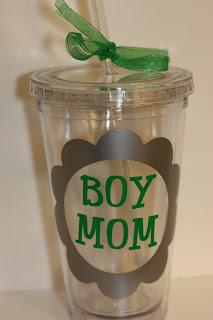 boymom acrylic cup/tumbler