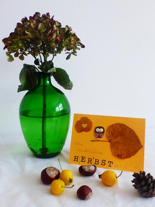 Deko Herbst Postkarte DIY