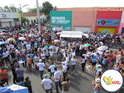 Manifestação chega ao fim em Santa Quitéria - Por Carlos Moreira / Ipueiras