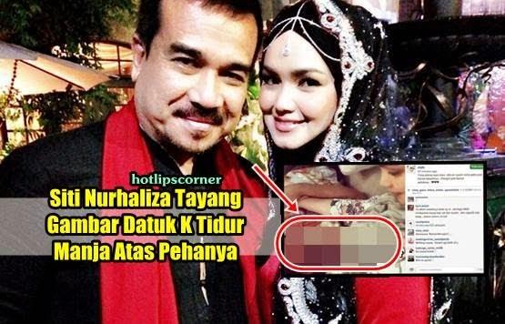 Siti Nurhaliza Tayang Gambar Sweet Suami Tidur Atas Pehanya