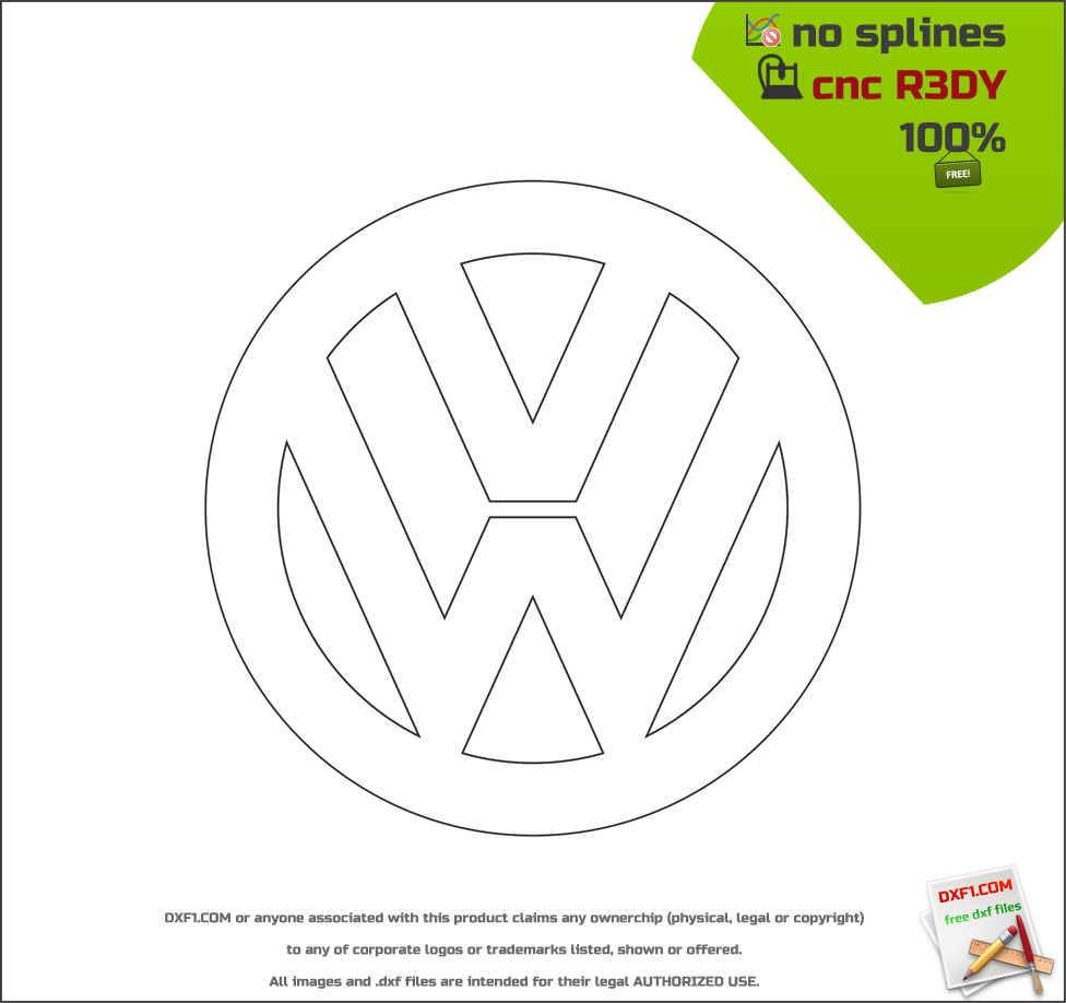 Free Dxf Files For Cnc Machines Vw Logo Free Download