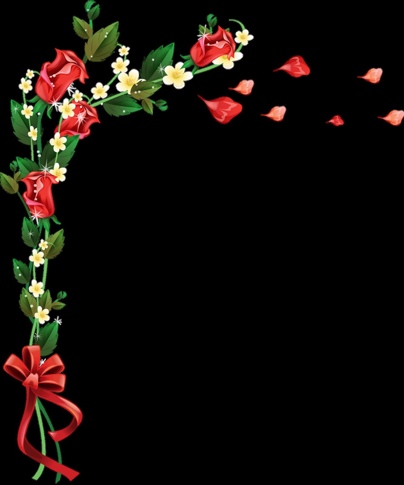 Marco De Flores Rosas PNG