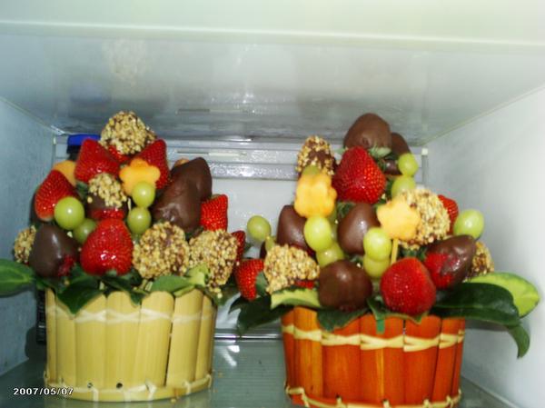 Centros de mesa frutales para bautizos parte 3 for Centros de frutas
