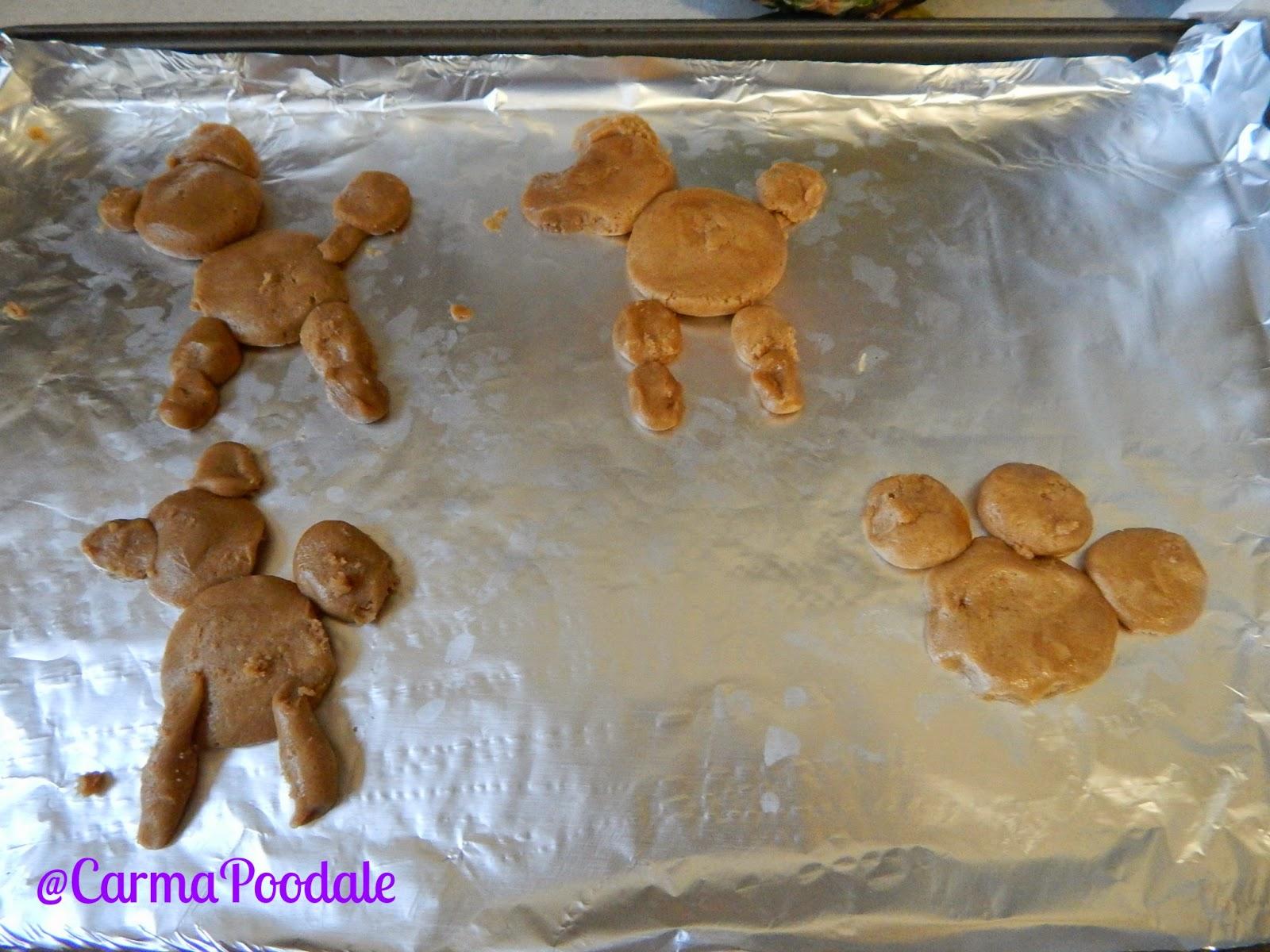 cookie shaped like poodles