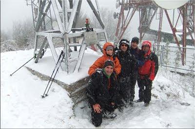 Zaldiaran mendiaren gailurra 978 m. -- 2012ko otsailaren 4an