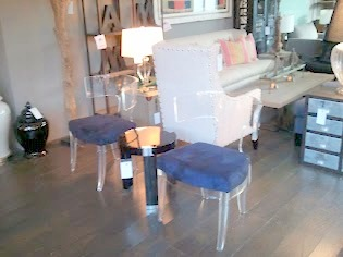 Another Blurry Vision Of My Favorite Find UGH! Ghost Chair With Plush  Cushions. The Beautiful Shade Of Blue Pops Perfectly From The Clear Design.