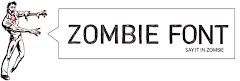 Zombie Font