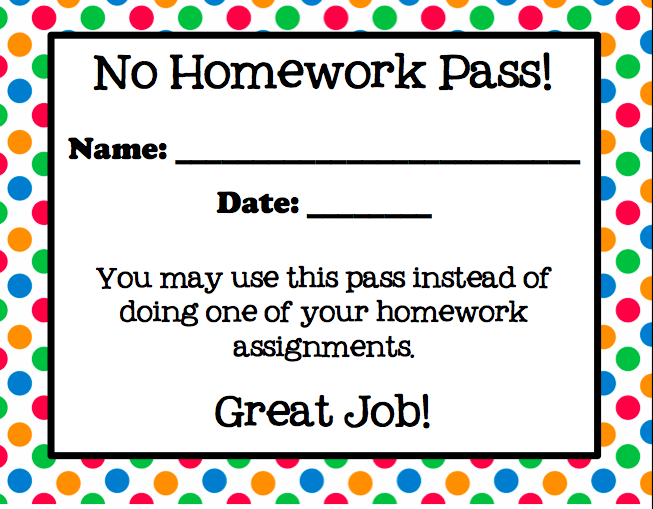 No homework pass pdf