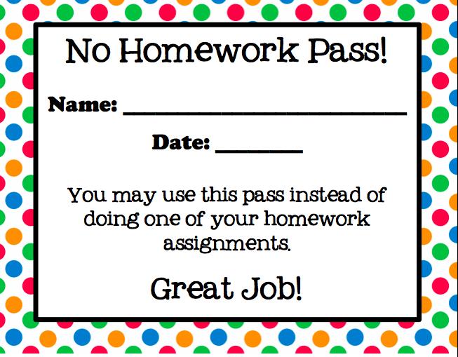 Printable christmas homework coupons