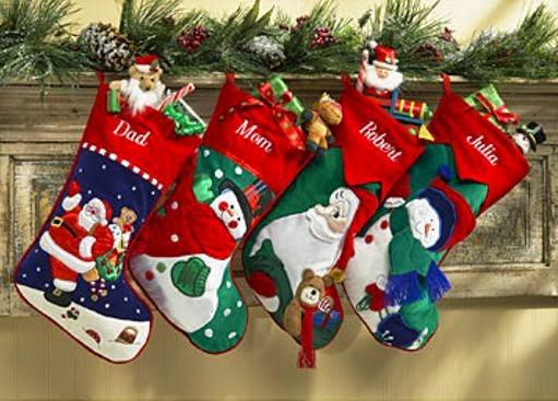 botas con regalos de navidad