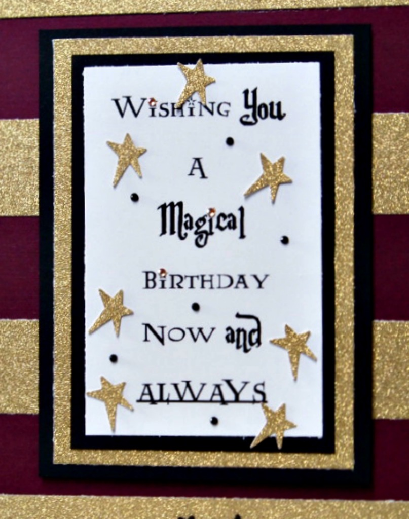 The answer is chocolate harry potter birthday card as the huge fans we are we all have the adult ha coloring book i finished the card with some self adhesive star strips i had in my stash bookmarktalkfo Choice Image