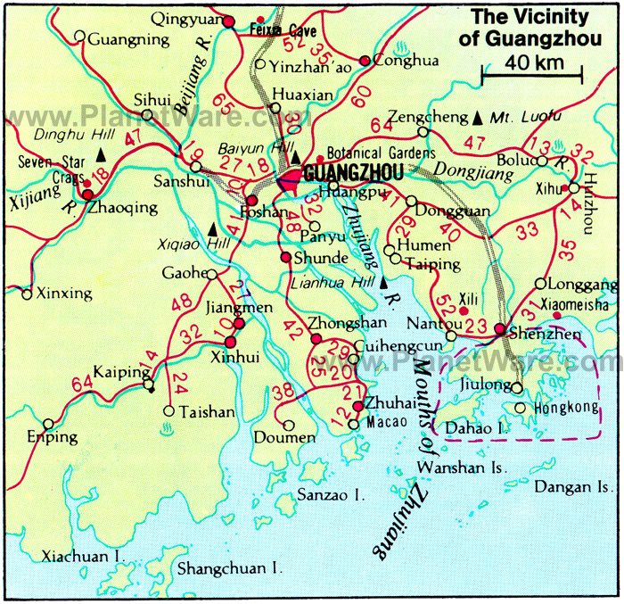 Ganzhou China  city photo : Guangzhou Map City of China