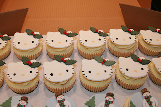 Hello Kitty Christmas cupcakes treat