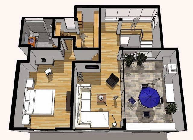 Oniria dise o de departamento duplex de 180 m2 - Duplex de diseno ...